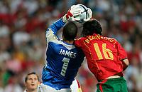 Lisbona 24/6/2004 <br />Euro2004 Quarter Final <br />Portugal England 8-7 after penalties (2-2) <br />David James of England and Ricardo Carvalho of Portugal<br />Photo Andrea Staccioli Graffiti