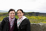 Allison and Julie Ann at The Cliffs of Moher in County Clare, Ireland on Friday June 21st 2013. (Photo by Brian Garfinkel)