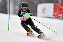 PAPULOVA Mariia LW6/8-2 NPA competing in the ParaSkiAlpin, Para Alpine Skiing, Slalom at the PyeongChang2018 Winter Paralympic Games, South Korea.