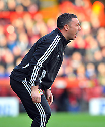Bristol City Manager, Derek McInnes - Photo mandatory by-line: Joe Meredith/JMP  - Tel: Mobile:07966 386802 17/11/2012 - Bristol City v Blackpool - SPORT - FOOTBALL - Championship -  Bristol  - Ashton Gate Stadium -