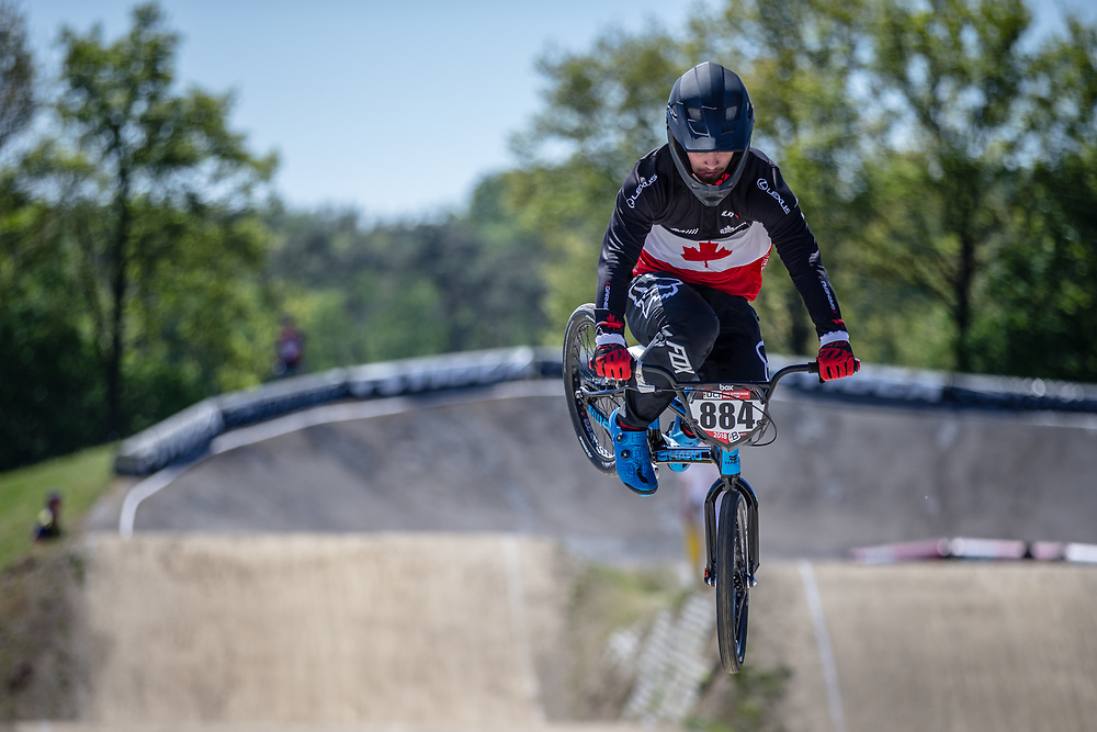 #884 (SAMELLS Josh) CAN at Round 4 of the 2018 UCI BMX Superscross World Cup in Papendal, The Netherlands
