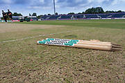The wicket before the Specsavers County Champ Div 2 match between Durham County Cricket Club and Leicestershire County Cricket Club at the Emirates Durham ICG Ground, Chester-le-Street, United Kingdom on 18 August 2019.