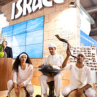 Milan, Italy - February  17:  Israeli performers at BIT International Tourism Exchange on february 17, 2012 in Milan, Italy.