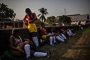 Xerente tribesmen  in the village of Tocantinia, Brazil, Sunday, 06, 2015. (Hilaea Media/ Dado Galdieri)