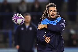 Josh Navidi of Cardiff Blues during the pre match warm up - Mandatory by-line: Craig Thomas/JMP - 14/01/2018 - RUGBY - BT Sport Cardiff Arms Park - Cardiff, Wales - Cardiff Blues v Toulouse - European Rugby Challenge Cup