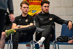 Rik van Solkema #7 of Dynamo, Maikel van Zeist #10 of Dynamo on the bench in the second round between Sliedrecht Sport and Draisma Dynamo on February 29, 2020 in sports hall de Basis, Sliedrecht