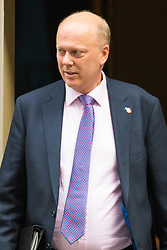 Downing Street, London, October 27th 2015.  Leader of the Commons Chris Grayling leaves 10 Downing Street after attending the weekly cabinet meeting.