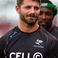 DURBAN, SOUTH AFRICA - MARCH 26:  Willie le Roux of the Cell C Sharks during the Super Rugby match between Cell C Sharks and BNZ Crusaders at Growthpoint Kings Park on March 26, 2016 in Durban, South Africa. (Photo by Steve Haag)<br /> <br /> images for social media must have consent from Steve Haag