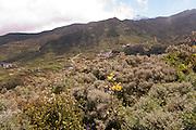 A view overlooking Las Portelas, with El Teide in the background; Tenerife