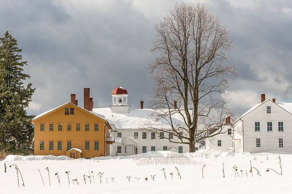 After the storm at Canterbury Shaker Village, NH.<br />