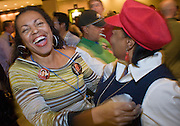 04 NOVEMBER 2008 --  PHOENIX, AZ: Linda Parson and Millie Black congratulate each other during Barack O'Bama's victory at the Democratic party's election watch party at the Wyndham Hotel in Phoenix. PHOTO BY JACK KURTZ