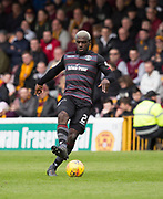 28th April 2018, Fir Park, Motherwell, Scotland; Scottish Premier League football, Motherwell versus Dundee; Cedric Kipre of Motherwell