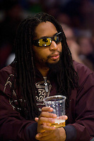 27 March 2007: Hip hop rapper Little John enjoys the game between the Memphis Grizzlies and the Los Angeles Lakers during the Grizzlies 88-86 victory over the Lakers at the STAPLES Center in Los Angeles, CA.
