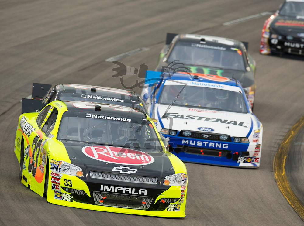 NEWTON, IA - July 04, 2012: Brendan Gaughan (33) during the U.S. Cellular 250 race at Iowa Speedway in Newton, IA.