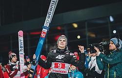 06.01.2020, Paul Außerleitner Schanze, Bischofshofen, AUT, FIS Weltcup Skisprung, Vierschanzentournee, Bischofshofen, Finale, Podium Gesamtsieg, im Bild Marius Lindvik (NOR) // during Podium for the overall victory of the Four Hills Tournament of FIS Ski Jumping World Cup at the Paul Außerleitner Schanze in Bischofshofen, Austria on 2020/01/06. EXPA Pictures © 2020, PhotoCredit: EXPA/ JFK