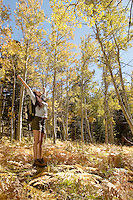 Hiker with Arms Outstretched