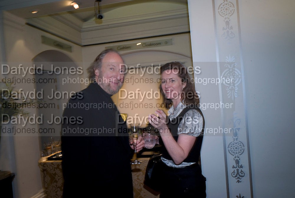 ED VICTOR; MELISSA KNATCHBULL, Preview party for the Versace Sale.  The contents of fashion designer Gianni Versace's villa on Lake Como. Sothebys. Old Bond St. London. 16 March 2009.  *** Local Caption *** -DO NOT ARCHIVE -Copyright Photograph by Dafydd Jones. 248 Clapham Rd. London SW9 0PZ. Tel 0207 820 0771. www.dafjones.com<br /> ED VICTOR; MELISSA KNATCHBULL, Preview party for the Versace Sale.  The contents of fashion designer Gianni Versace's villa on Lake Como. Sothebys. Old Bond St. London. 16 March 2009.