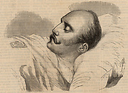 Nicholas I (1796-1855) Emperor (Tsar) of Russia from 1825. Nicholas on his deathbed. Wood engraving from ''Illustration' (Paris, 1855).