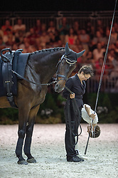 Carola Sneekes, (NED), Nolan, Marjo Sneekes - Individuals Women Technical Vaulting - Alltech FEI World Equestrian Games™ 2014 - Normandy, France.<br /> © Hippo Foto Team - Jon Stroud<br /> 04/09/2014