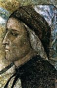 Dante Alighieri' (1265-1321) Italian poet: portrait by Giotto di Bondone (1266 or 1267-1321) Italian artist.