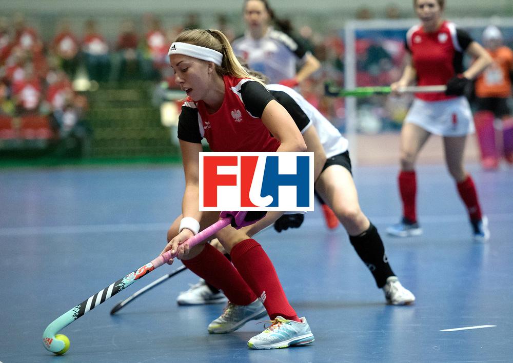 BERLIN - Indoor Hockey World Cup<br /> Switzerland - Poland<br /> foto: ST&Uuml;HLINGER Julia<br /> WORLDSPORTPICS COPYRIGHT FRANK UIJLENBROEK