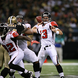 2007 October, 21: Falcons quarterback Joey Harrington (13) passes during a 22-16 win by the New Orleans Saints over the Atlanta Falcons at the Louisiana Superdome in New Orleans, LA.