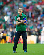 Wembley, Great Britain,  Ireland coach, Joe SCHMIDT, during, the pre game session, Pool D Game, Ireland vs Romania.  2015 Rugby World Cup, Venue, Wembley Stadium, London, ENGLAND.  Sunday  27/09/2015 <br /> <br /> Mandatory Credit; Peter Spurrier/Intersport-images]