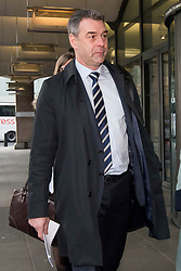 © Licensed to London News Pictures. 06/02/2018. London, UK. Former chief executive of Carillion RICHARD HOWSON arrives at Portcullis house in London where former bosses of the outsourcing firm Carillion are due to give evidence to a Business, Energy and Industrial Strategy Committee and the Work and Pensions Committe. Carillion plc, a major government contractor, went in to administration in January 2018. Photo credit: Ben Cawthra/LNP