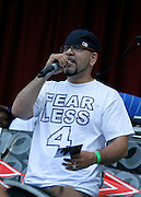 Devastating Tito performs during the City Parks Foundation Salute to Hip Hop event at Von King Park in Brooklyn, New York on June 18, 2014.
