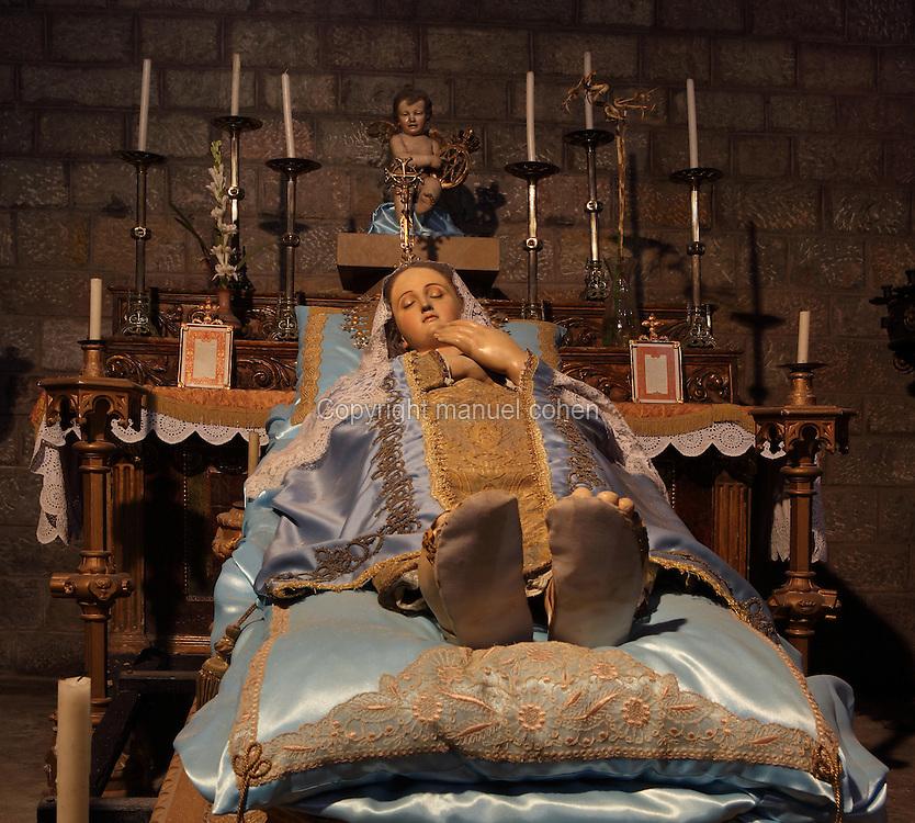 Chapel of the Dormition of the Virgin Mary, Basilica de Santa Maria del Pi (Santa Maria del Pino, St. Mary of the Pine Tree), 14th century Gothic church, Barcelona, Spain. Picture by Manuel Cohen