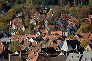 Goslar Altstadt, UNESCO-Welterbestätte..Dächer der Altstadt vom Turm der Marktkirche