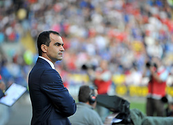 Everton Manager, Roberto Martinez  - Photo mandatory by-line: Alex James/JMP - Tel: Mobile: 07966 386802 31/08/2013 - SPORT - FOOTBALL - Cardiff City Stadium - Cardiff - Cardiff City V Everton - Barclays Premier League