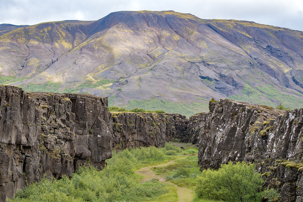 Iceland - Thingvellir, the rift valley that marks the crest of the Mid-Atlantic Ridge and the boundary between the North American tectonic plate and the Eurasian