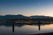 Port Angeles harbor at the blue hour