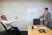 Greg Imm, Senior Vice President and Chief Compliance Officer at M&amp;T Bank, meets with Edward Paluch in Buffalo, New York on Thursday, May 19, 2016. CREDIT: Mike Bradley for the Wall Street Journal<br /> WATCHERS