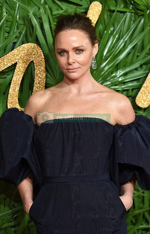 Stella McCartney attending the Fashion Awards 2017, in partnership with Swarovski, held at the Royal Albert Hall, London. Picture Credit Should Read: Doug Peters/ EMPICS Entertainment