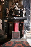 ornate confessional in a church Italy Rome