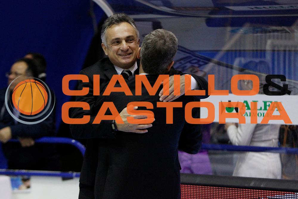 DESCRIZIONE : Capo dOrlando Lega A 2014-15 Orlandina Basket Granarolo Virtus Bologna<br /> GIOCATORE : COACH GIORGIO VALLI PRESIDENTE RENATO VILLALTA<br /> CATEGORIA : HEAD COACH ESULTANZA VIP <br /> SQUADRA : Granarolo Virtus Bologna<br /> EVENTO : Campionato Lega A 2014-2015 <br /> GARA : Orlandina Basket Granarolo Virtus Bologna<br /> DATA : 01/02/2015<br /> SPORT : Pallacanestro <br /> AUTORE : Agenzia Ciamillo-Castoria/G.Pappalardo<br /> Galleria : Lega Basket A 2014-2015<br /> Fotonotizia : Capo dOrlando Lega A 2014-15 Orlandina Basket Granarolo Virtus Bologna