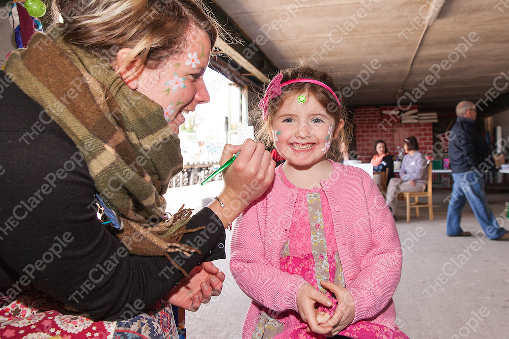 Grace McEnrey from Clarecastle getting her face painted by Rosie Cole at the Clare Garden Festival