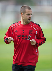 LIVERPOOL, ENGLAND - Wednesday, August 18, 2010: Liverpool's Joe Cole during a training session at Melwood ahead of the UEFA Europa League Play-Off 1st Leg match against Trabzonspor A.S. (Pic by: David Rawcliffe/Propaganda)