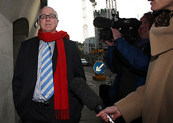 © Licenced to London News Pictures. 20/11/2013. London. UK.  <br /> Denis Macshane, disgraced former Labour MP pictured arriving for the sentencing of his case at the Central Criminal Court at the Old Bailey in London, December 20th 2013. The former Labour minister and MP for Rotherham pleaded guilty to false accounting by filing fake receipts amounting to nearly £13000.<br /> Photo Credit: Susannah Ireland