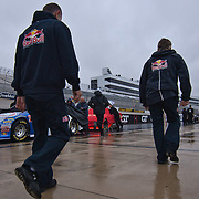 Nationwide crew returning car back to the Nationwide garage during a rain delay at the Nationwide Series race at Dover International Speedway in Dover Delaware.