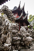 Embracing Clouds Cliff and Kuai Lou in Yu Yuan Gardens Shanghai, China