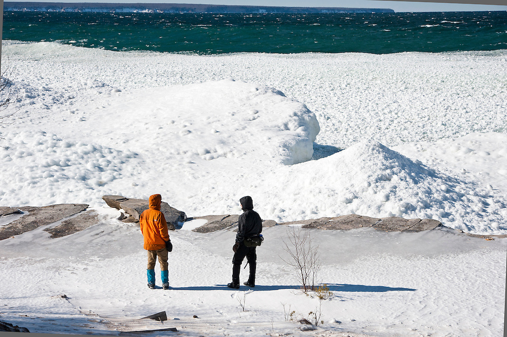 Winter exploration at Pictured Rocks National Lakeshore near Munising, Michigan.