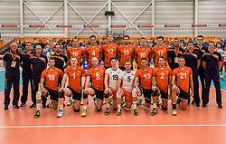 23-09-2016 NED: EK Kwalificatie Nederland - Oostenrijk, Koog aan de Zaan<br /> Nederland pakt de eerste set 25-17 / Team Nederland