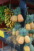 Fruit stand, Island of Tahiti, French Polynesia<br />