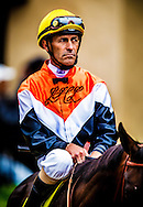 Gary Stevens  wins the GII San Clemente Stakes aboard Wishing Gate at Del Mar Race Course in Del Mar, CA on July 21, 2013. (Alex Evers/ Eclipse Sportswire)
