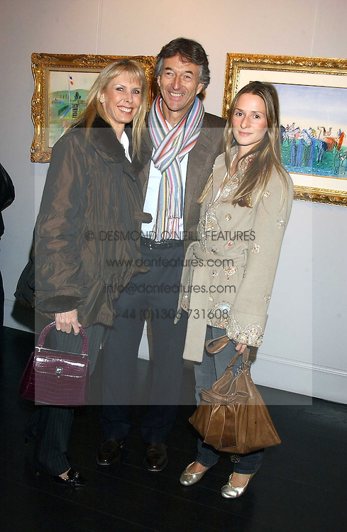 Left to right, STUART & SUSAN CROSSLEY she was Susan Sangster and his daughter AMANDA CROSSLEY at the opening of an exhibition of paintings and watercolours by Raoul Dufy held at the Opera Gallery, 134 New Bond Street, London W1 on 6th February 2006.<br /><br />NON EXCLUSIVE - WORLD RIGHTS