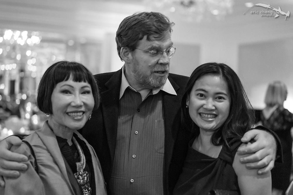 Michael Hawley with Amy Tan and Nina You; WildAid Gala, November 15, 2014