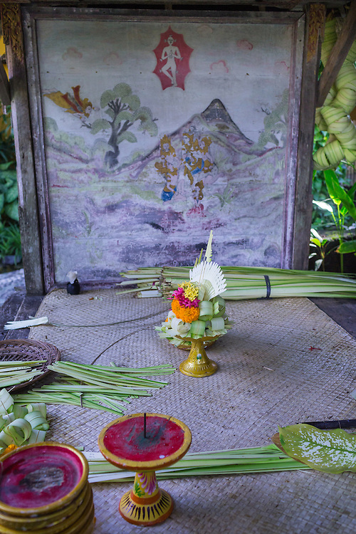 Hand-made decorations at Tugu Hotel Bali.